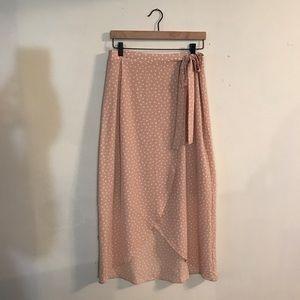 Max Studio   Polka Dot High-Low Wrap Skirt